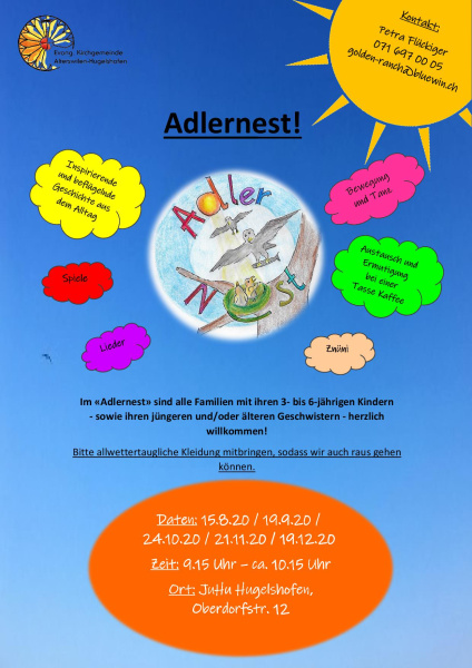 Flyer Adlernest<div class='url' style='display:none;'>/kg/kemmental/</div><div class='dom' style='display:none;'>kirchgemeinde.ch/</div><div class='aid' style='display:none;'>226</div><div class='bid' style='display:none;'>17382</div><div class='usr' style='display:none;'>230</div>